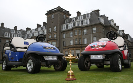 Club Car is out in force at Gleneagles.