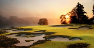 The 17th hole on the Blackstone Course in Haikou.