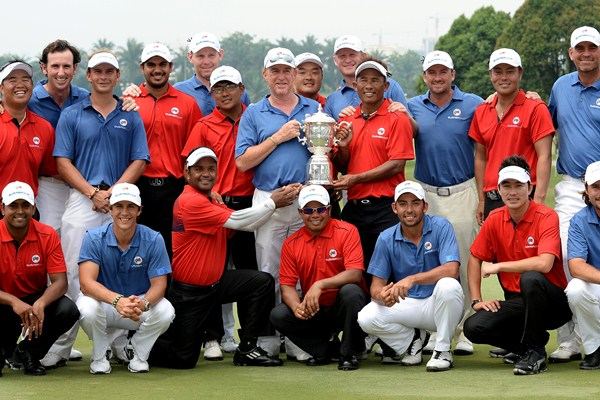 Asia and Europe shared the spoils in the inaugural EurAsia Cup. Picture by Getty Images.