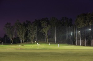 The floodlit driving range at the Hong Kong Golf Club, now open to the public on weekday evenings. Picture by Richard Castka/Sportpix