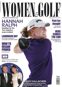 The front cover for the March/April edition of Women&Golf.