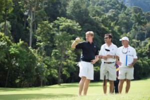 Ernie Els during a recent site visit to the Langkawi project.