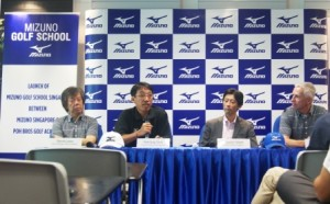 The Mizuno Golf School Singapore was launched at a press conference.