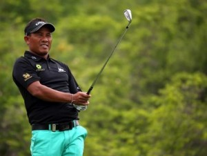 Thongchai Jaidee is one of six Asians in the field at Augusta National this week.