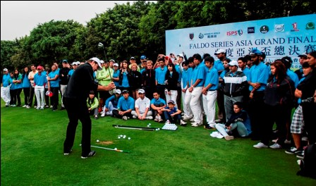 Nick Faldo will once more conduct a clinic during the Faldo Series Asia Grand Final.