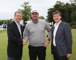 Andy Brown of Toro with Ryder Cup player Peter Hanson and GEO's Jonathan Smith.