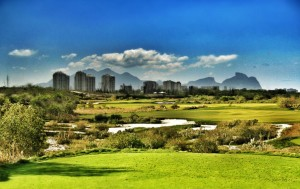 The selected site for the golf event at Rio 2016.