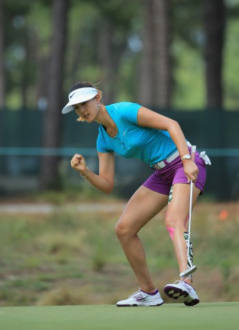 Michelle Wie claimed her maiden Major title at Pinehurst.