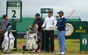 Indian Anirban Lahiri (right) in among 21 Asians in the line-up at Hoylake. Picture by Asian Tour.