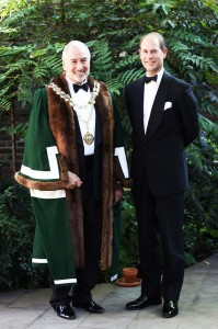 Stephen Bernhard with The Earl of Wessex.
