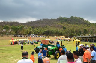 A product demonstration during the Turfgrass Management Exposition in Pattaya.