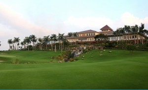 The clubhouse at Hanoi's Sky Lake.