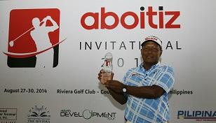 Antonio Lascuna celebrates his success.