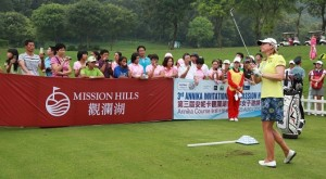 Annika Sörenstam's visit to China this week will include a skills clinic for young players. Picture by Miao Hua/Mission Hills