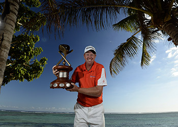 Steve Jeffress topped the leaderboard at the Fiji International.