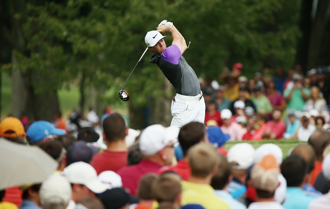 Rory McIlroy on his way to  victory at Valhalla. Picture by Getty Images.