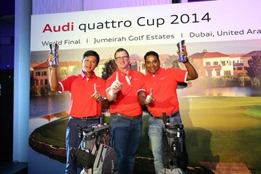 Winners of Audi quattro Cup 2014 Singapore with Jeff Mannering, Managing Director, Audi Singapore.
