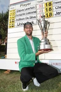 Steve Lewton captured his maiden Asian Tour title.