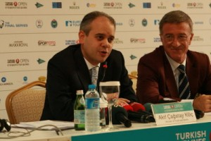 Turkish Minister for Youth and Sports Akif Çagatay Kilic. Picture by Golf Business News
