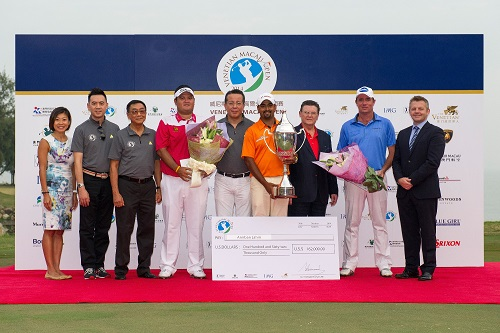 Prize-giving ceremony at last month's Venetian Macau Open.