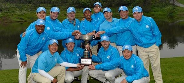 The triumphant Asia Pacific team.