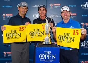 Greg Chalmers, Brett Rumford and Rod Pampling have earned starts in the 2015 Open Championship.