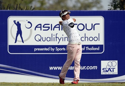 Akinori Tani on his way to victory at Q-School last year.