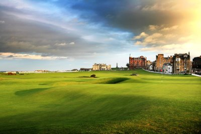 The Old Course at St Andrews.
