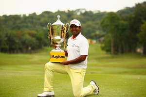 Anirban Lahiri savours his success in Kuala Lumpur. Picture by Getty Images.
