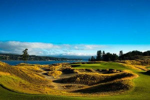 The third hole at Chambers Bay. Picture by USGA.