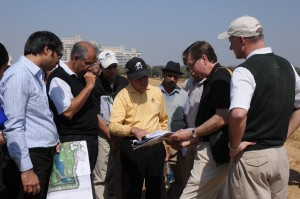 Gary Player during one of his site visits to DLF.
