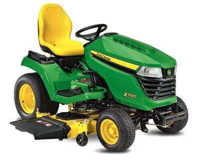 John Deere's X590 Multi-Terrain lawn tractor.