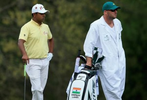 Anirban Lahiri has made the half-way cut at Augusta National.