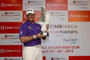 Lee Westwood won for a third time at Royale Jakarta.