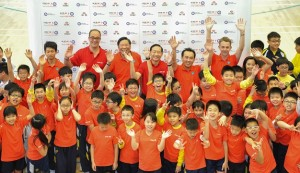 The launch of the HSBC Hong Kong Junior Golf Programme at the SKH St James' Primary School.