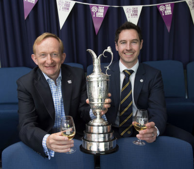 Visit Scotland Chairman Mike Cantlay and Michael Wells, Director – Championship Staging of The R&A. Picture by R&A