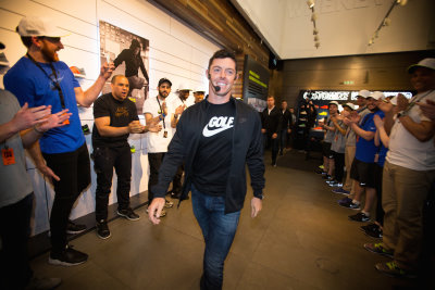 Rory McIlroy at Niketown London.