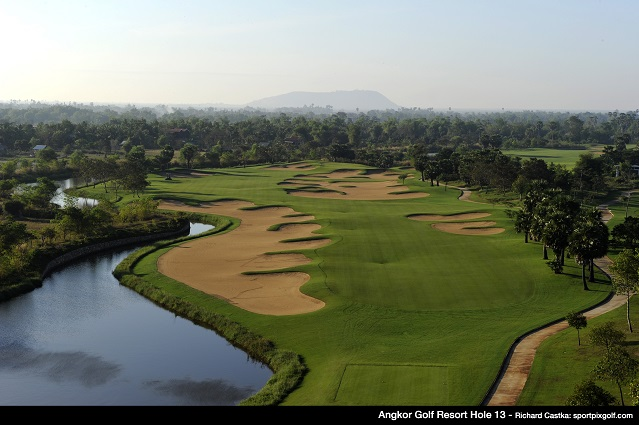The 13th hole at the Nick Faldo-designed Angkor Golf Resort, venue for June's Faldo Series Cambodia Championship.