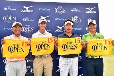 Taichi Teshima, Scott Strange, Tadahiro Takayama and Shinji Tomimura have qualified for The Open.
