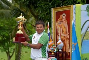 Prayad Marksaeng prevailed at Santiburi Samui Country Club. Picture by Paul Lakatos/Asian Tour.