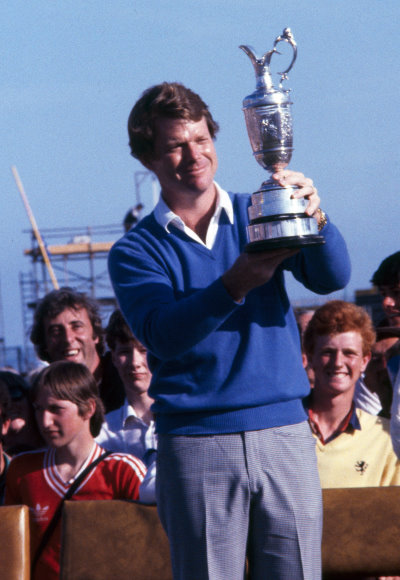 Tom Watson with the Claret Jug after his victory in the 1982 Open at Royal Troon. Picture by R&A