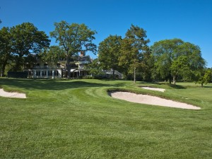 The 18th hole of the The Country Club in Brookline. Picture by  USGA//LC Lambrecht