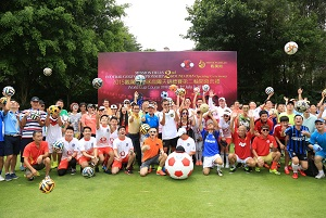 Participants in the second round of the Mission Hills Footgolf Championship. Picture by Miao Hua/Mission Hills