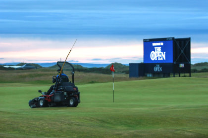 A Toro mower on the Old Course during The Open. Picture by  St Andrews Links/Kevin Murray