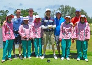 Adam Levine and fellow members of Maroon 5 at Laguna Phuket.