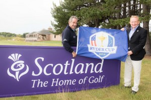 Visit Scotland ex-Chairman Mike Cantlay and Sam Torrance at the launch of the 2014 Ryder Cup Economic Benefits Study. Picture by Stuart Adams
