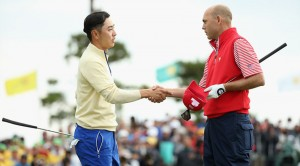 Bill Haas defeated Bae Sang-moon on the final hole to give victory to the US. Picture by Scott Halleran/Getty Images