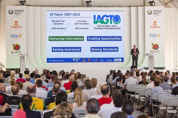 Peter Walton addressing delegates at the Tenerife gathering.
