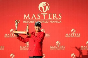 Natipong Srithong secured his maiden Asian Tour title.
