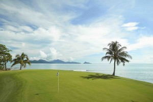 The 17th green at The Els Club Teluk Datai.